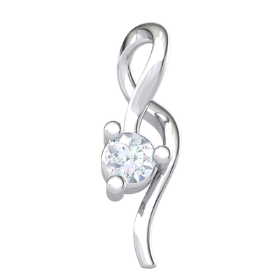 Timeless Real Infinity Symbol Pendant Around A Stunning White Diamond Solitare 0.07 Ct GH I1-I2 and 10 kt Gold
