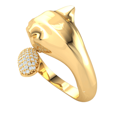 0.48 Ctw One Of A Kind Wrap Around Ring Made Of Real With Gorgeous Rows Of Sparkling White Diamonds in JK I1 10 kt Gold