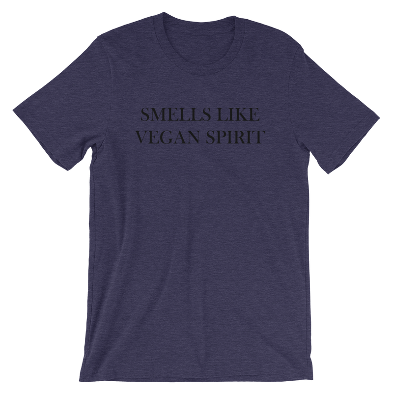 Smells Like Vegan Spirit - Black Print - Unisex Vegan T-shirt