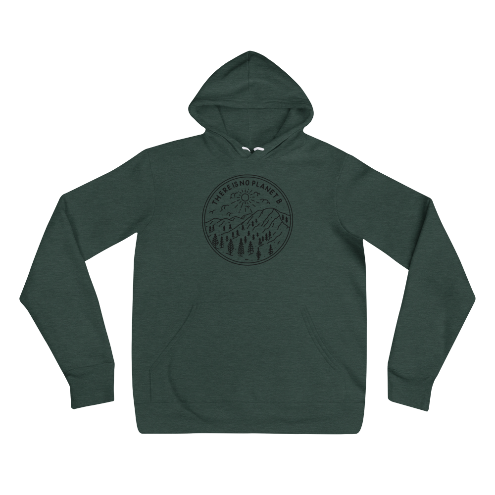 The Is No Planet B - Black Print - Unisex Vegan Hoodie