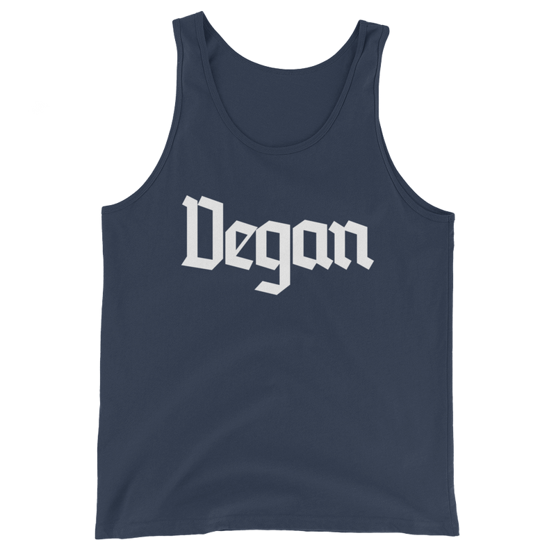 Vegan - White Print - Unisex Vegan Tank Top