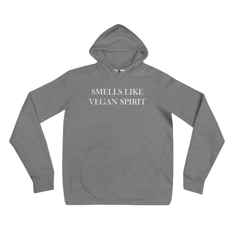 Smells Like Vegan Spirit - White Print - Unisex Vegan Hoodie