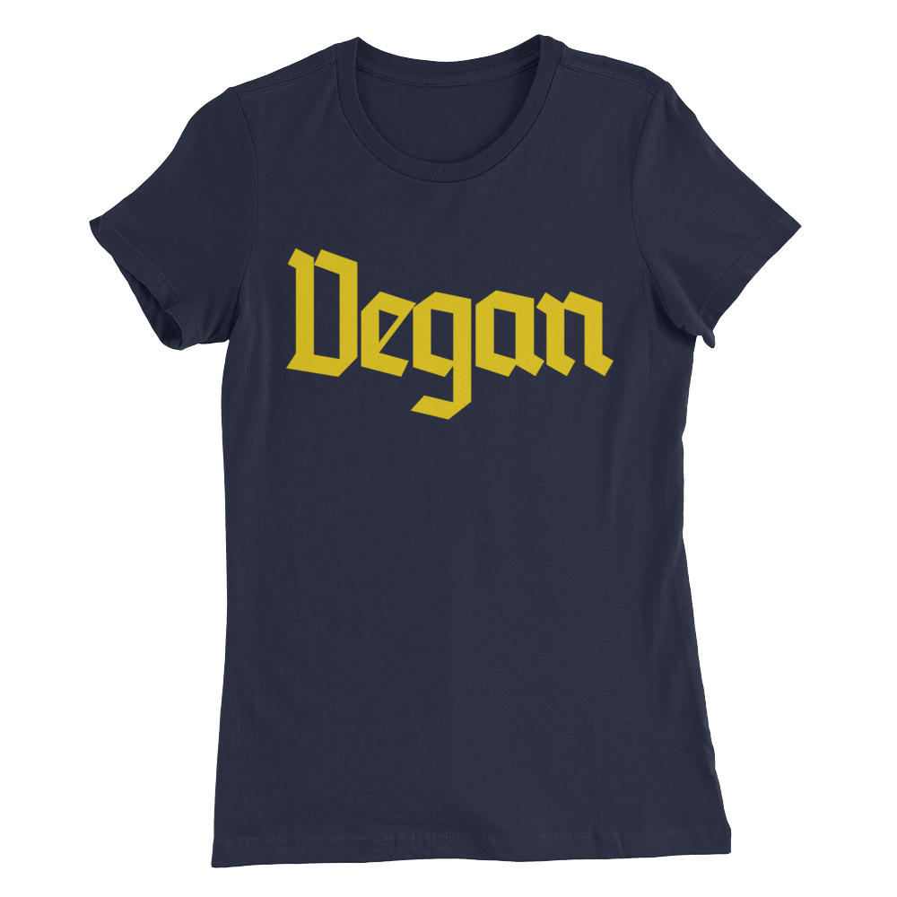 Vegan - Yellow Print - Women's Slim Fit