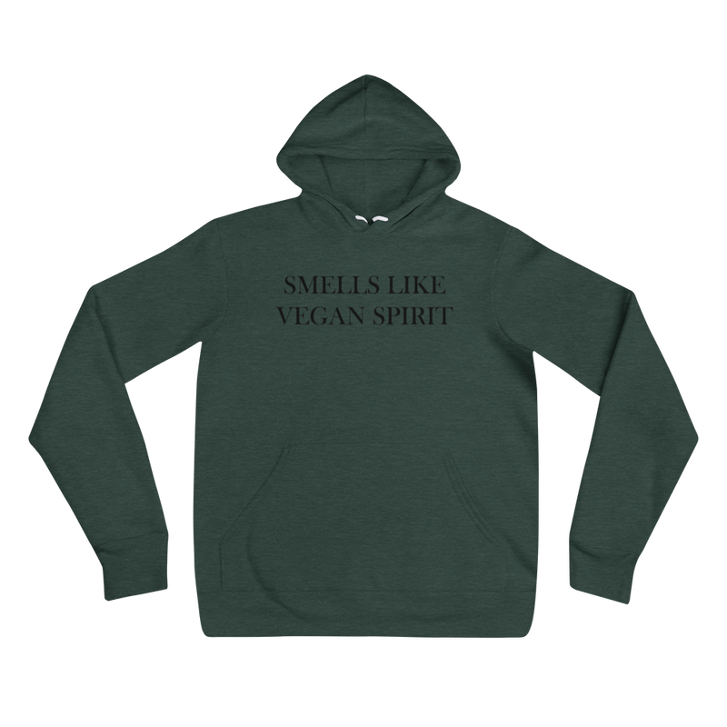 Smells Like Vegan Spirit - Black Print - Unisex Vegan Hoodie