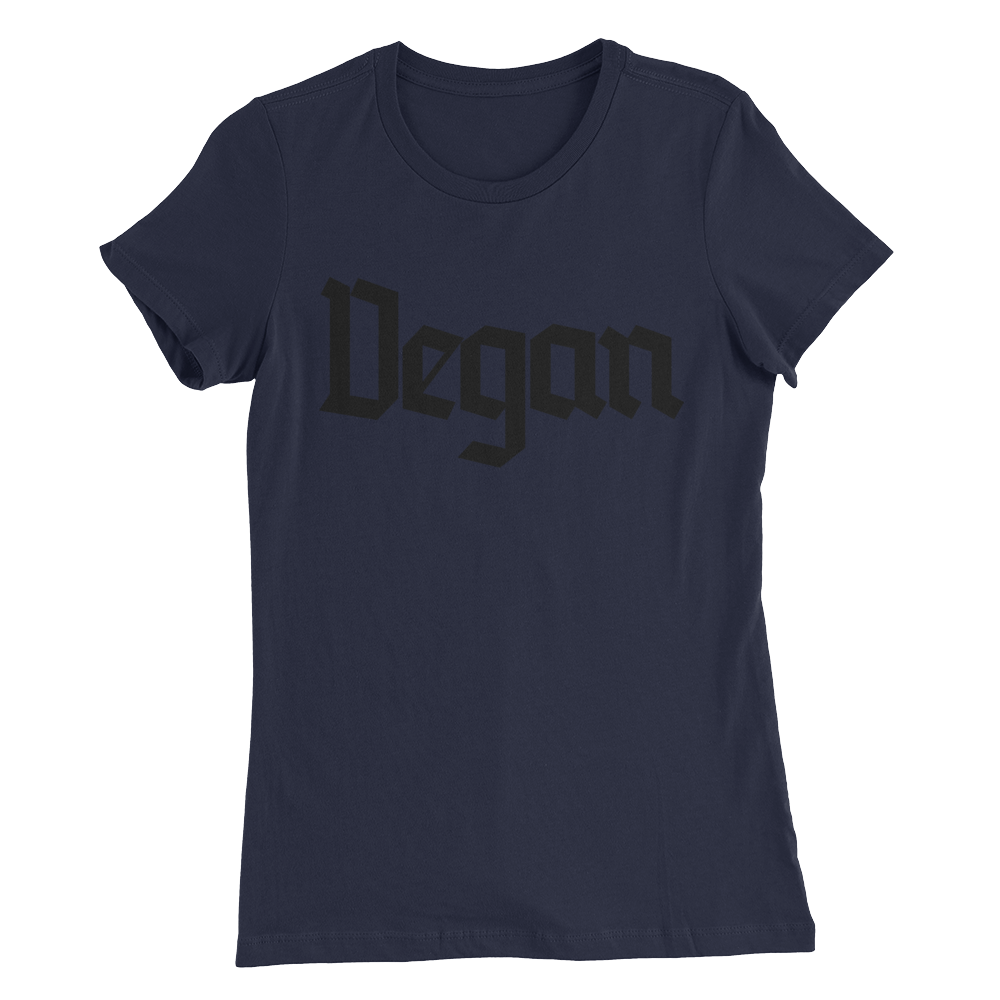 Vegan - Black Print - Women's Slim Fit