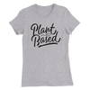 Plant Based - White Print - Women's Slim Fit Vegan T-Shirt