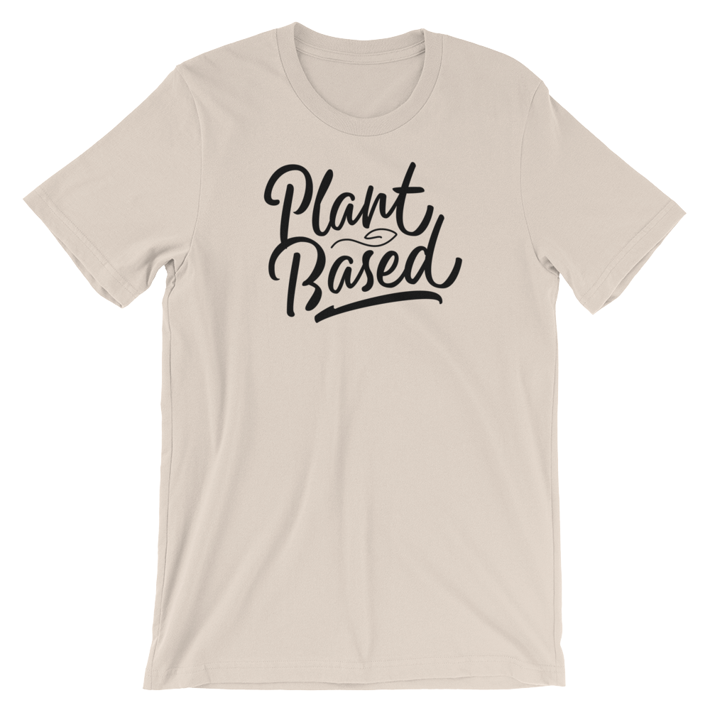 Plant Based - Black Print - Unisex Vegan T-Shirt