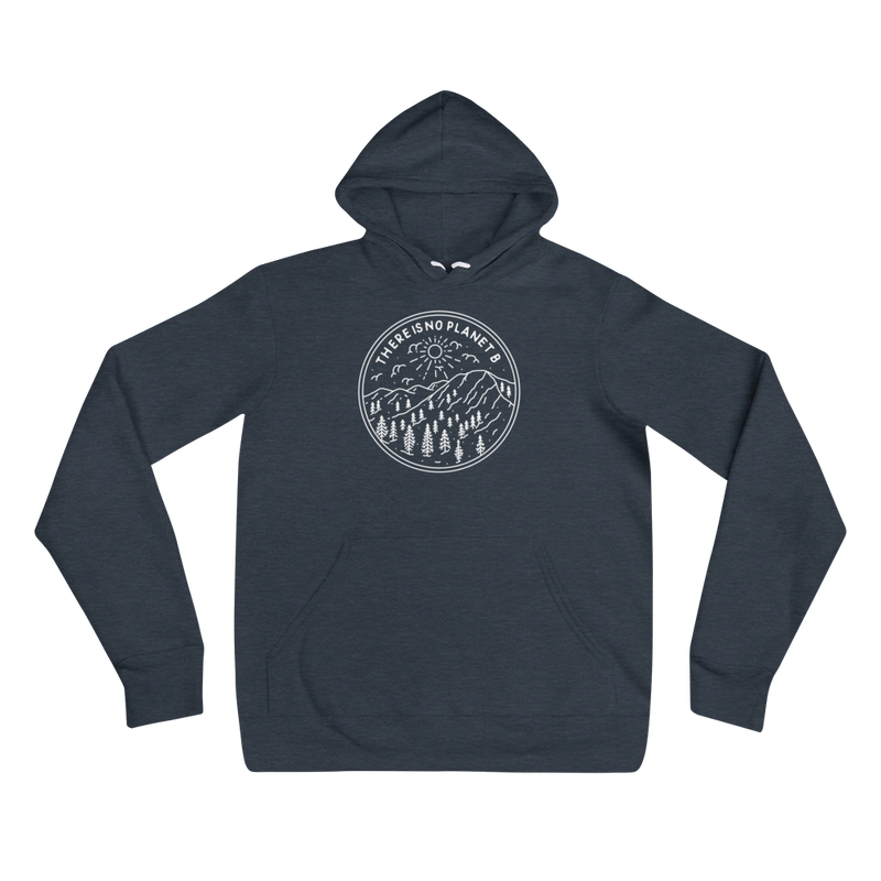 The Is No Planet B - White Print - Unisex Vegan Hoodie