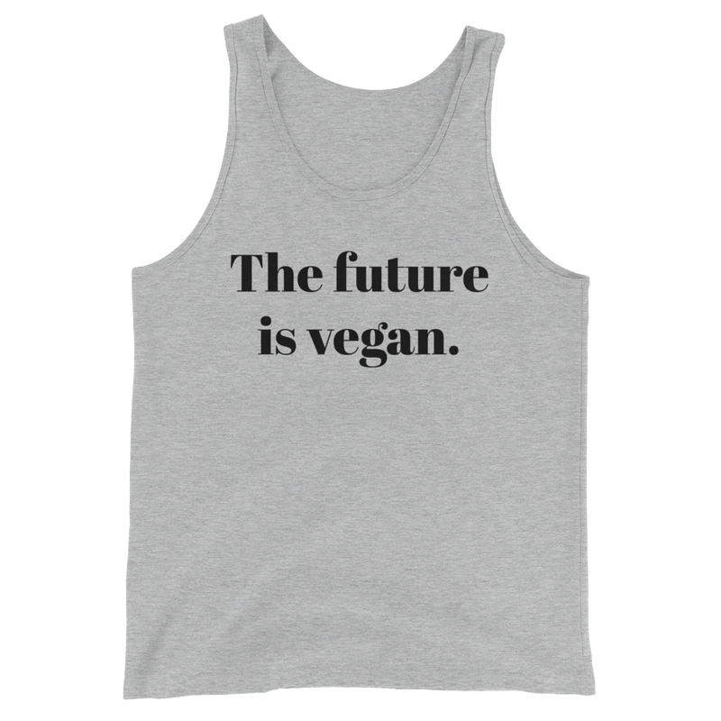 The future is vegan - Black Print - Unisex Vegan Tank Top