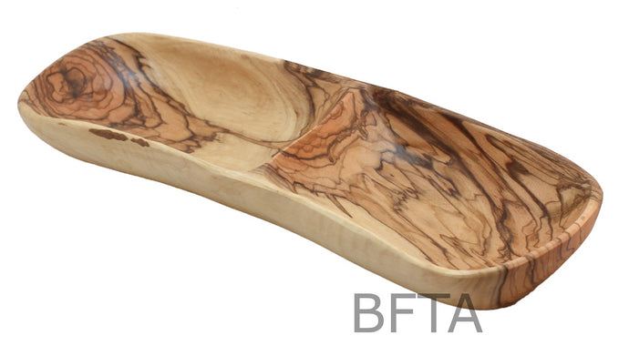 Olive Wood Divided Long Plate