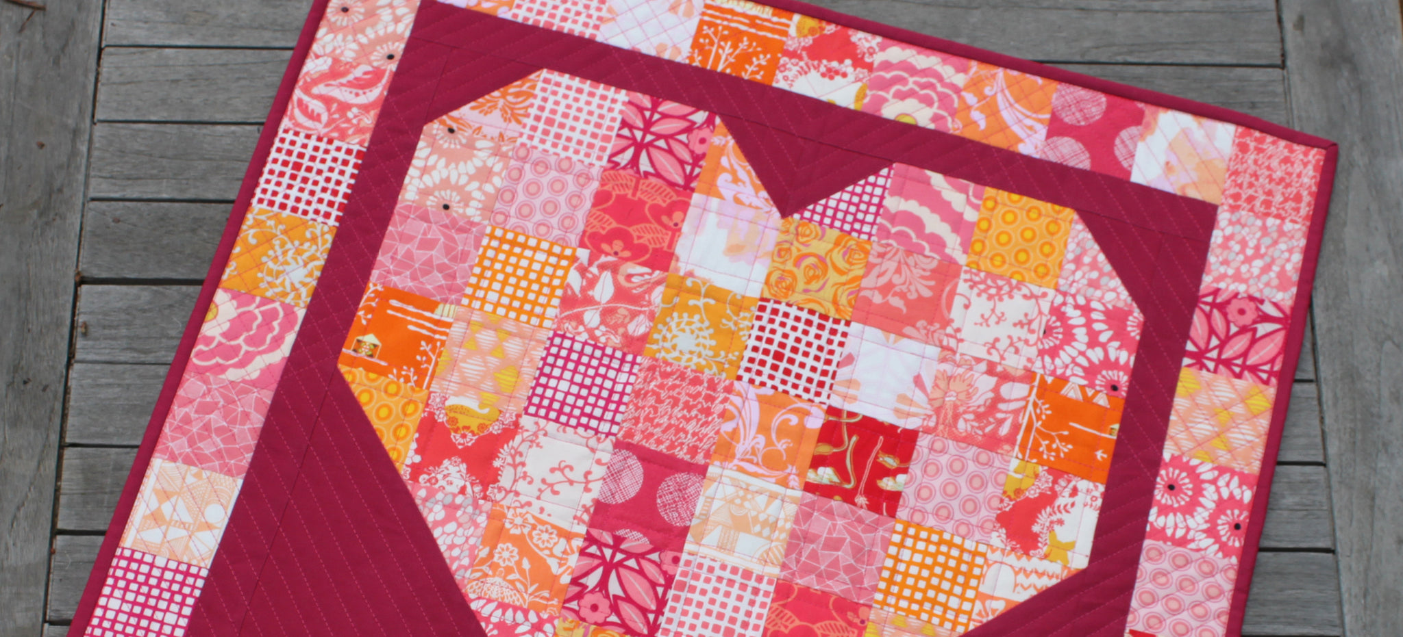 Free 'Pieces of My Heart Quilt' Pattern
