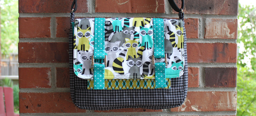 Shelby Satchel in Houndstooth & Friends