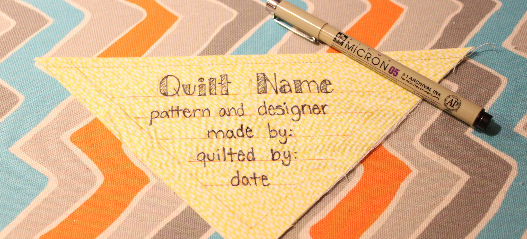 Sewology Sunday - Easy Quilt Label