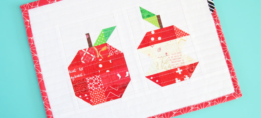 Free Patchwork Apple Mini Quilt Pattern