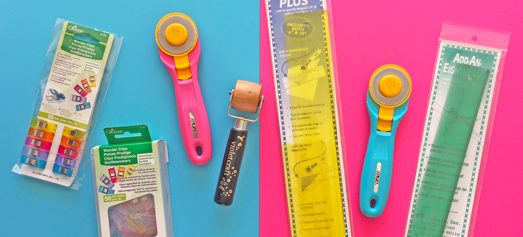 New Products Alert - Rotary Cutters, Seam Rollers, Wonder Clips, Add-a-Quarter Plus Rulers and Add-an-Eighth Rulers!