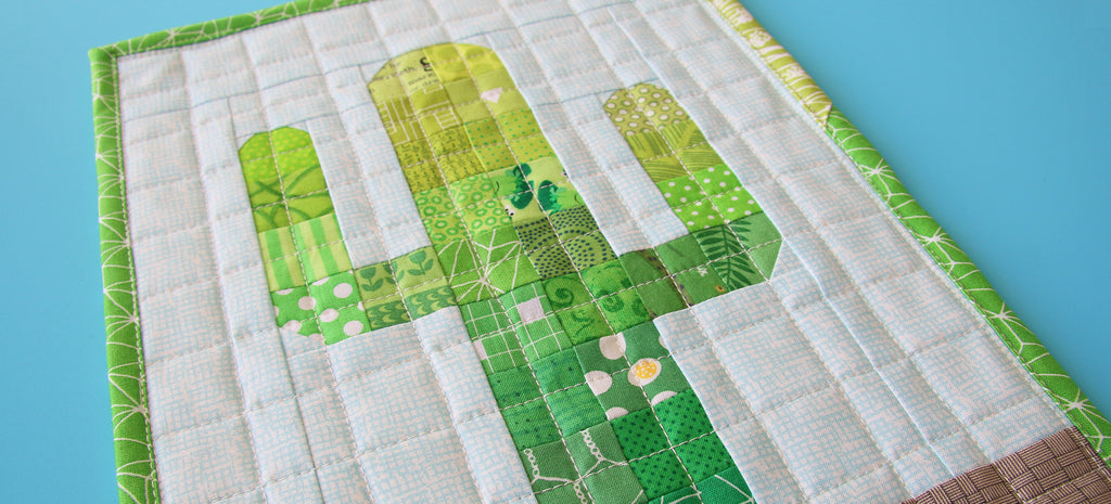 Mini Mondays - Free Patchwork Cactus Mini Quilt Pattern