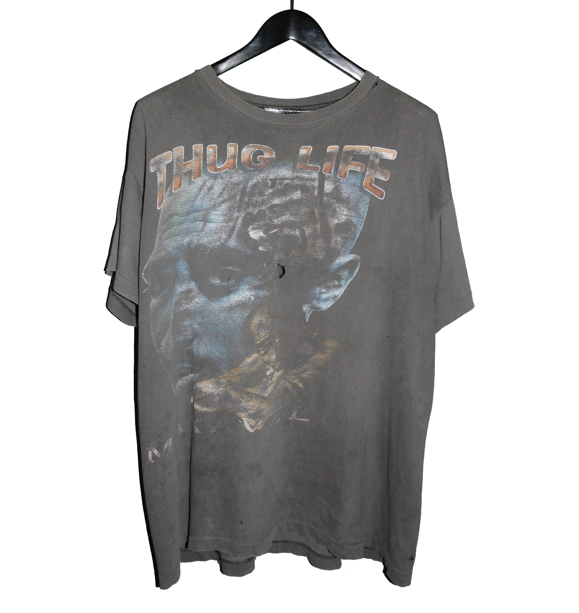 2PAC 1997 Makaveli Memorial Rap Tee - Faded AU