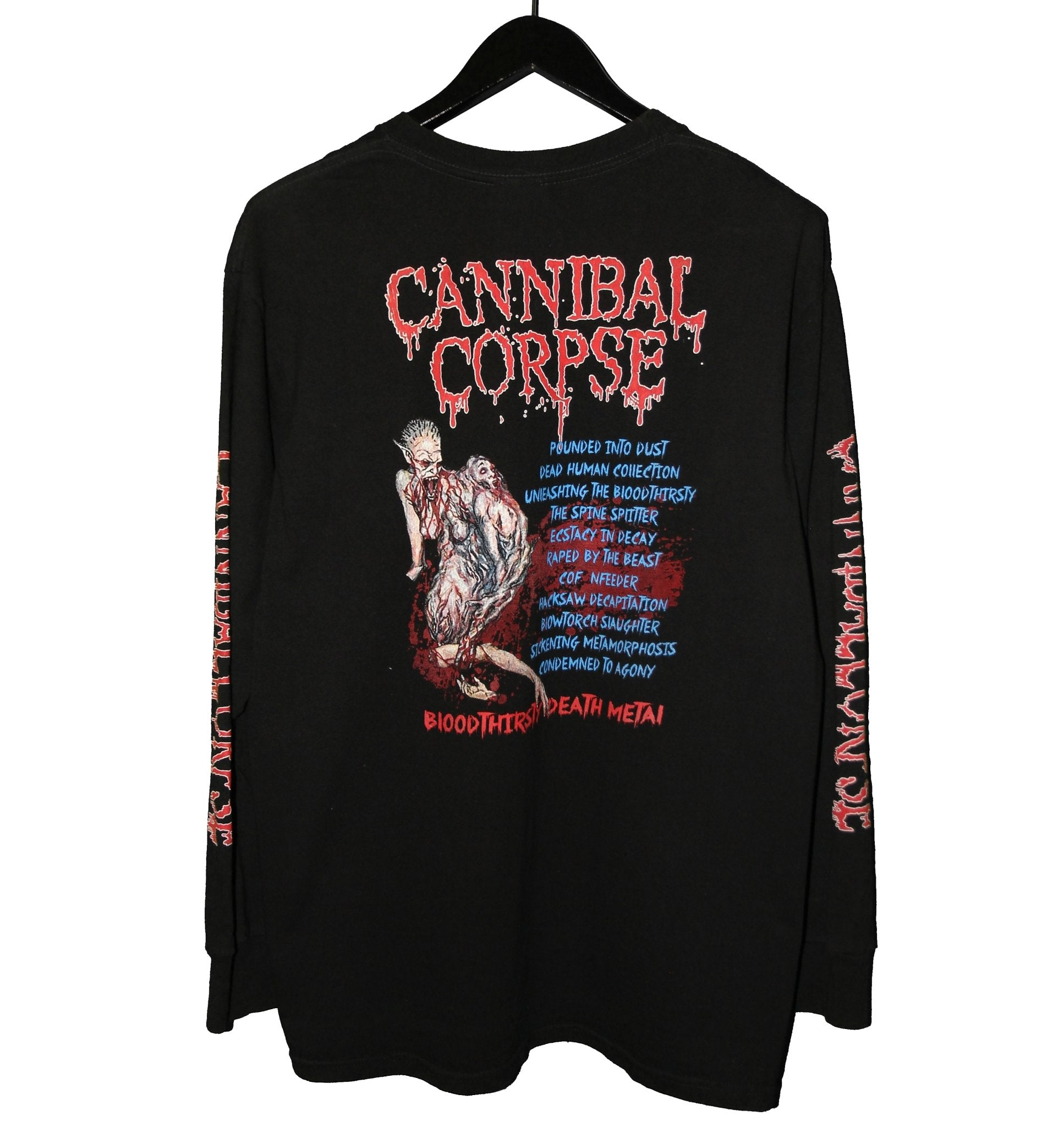 Cannibal Corpse 1999 Bloodthirsty Album Longsleeve - Faded AU