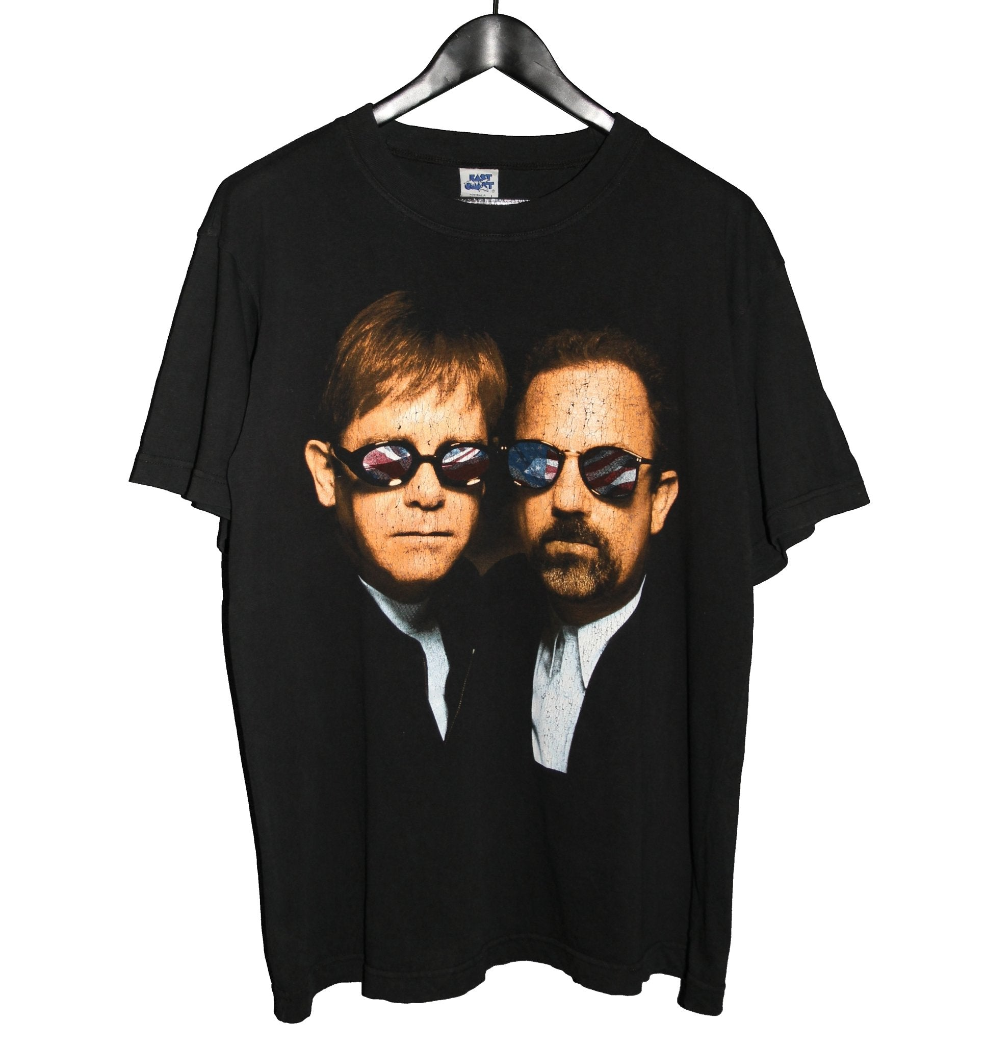 Elton John & Billy Joel 1998 Face To Face Tour Shirt - Faded AU