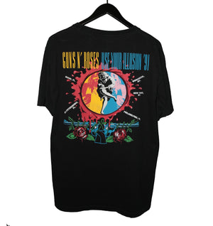 Guns N Roses 1991 Use Your Illusion US Tour Shirt - Faded AU