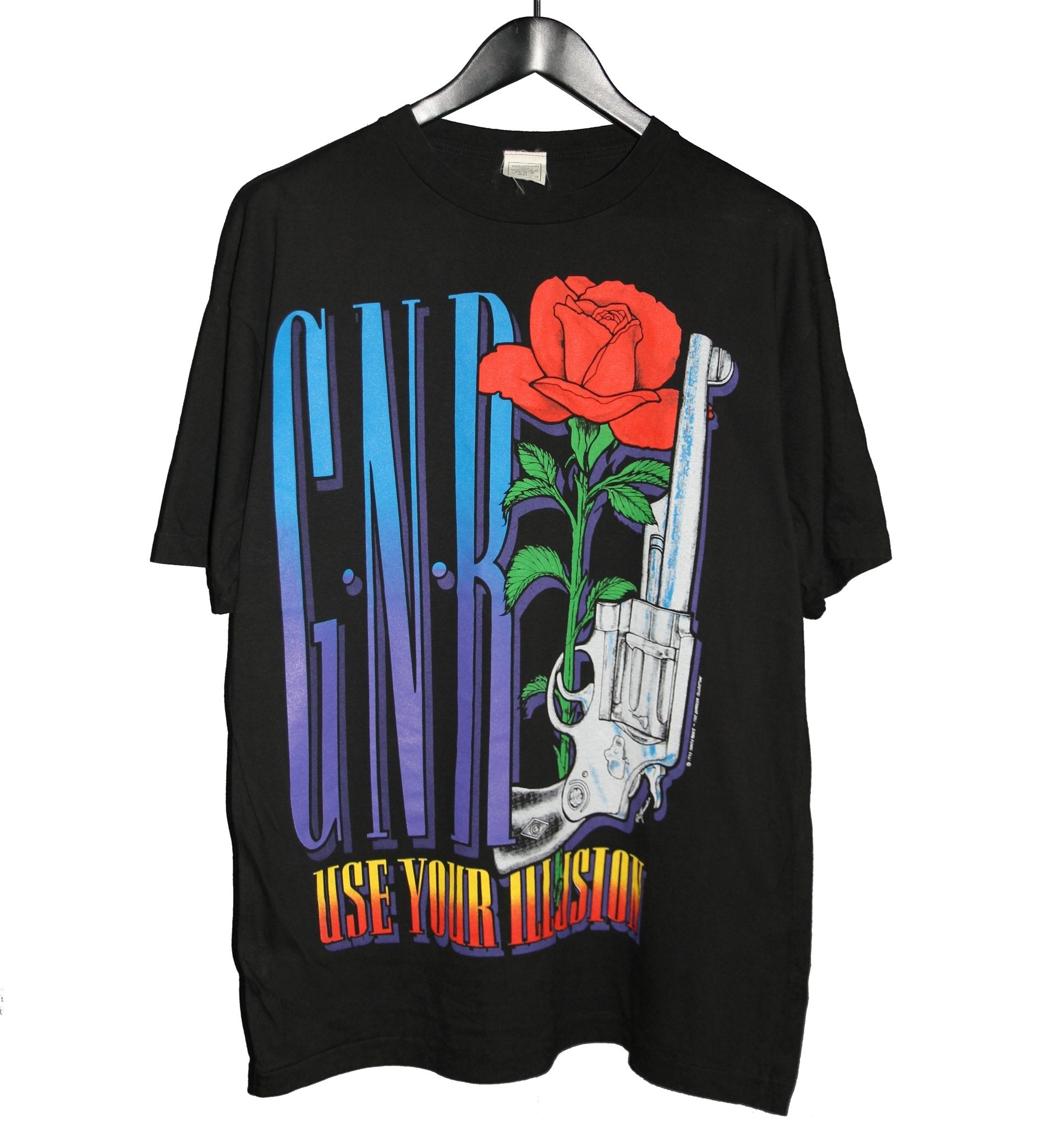 Guns N Roses 1993 Use Your Illusion Tour Shirt - Faded AU