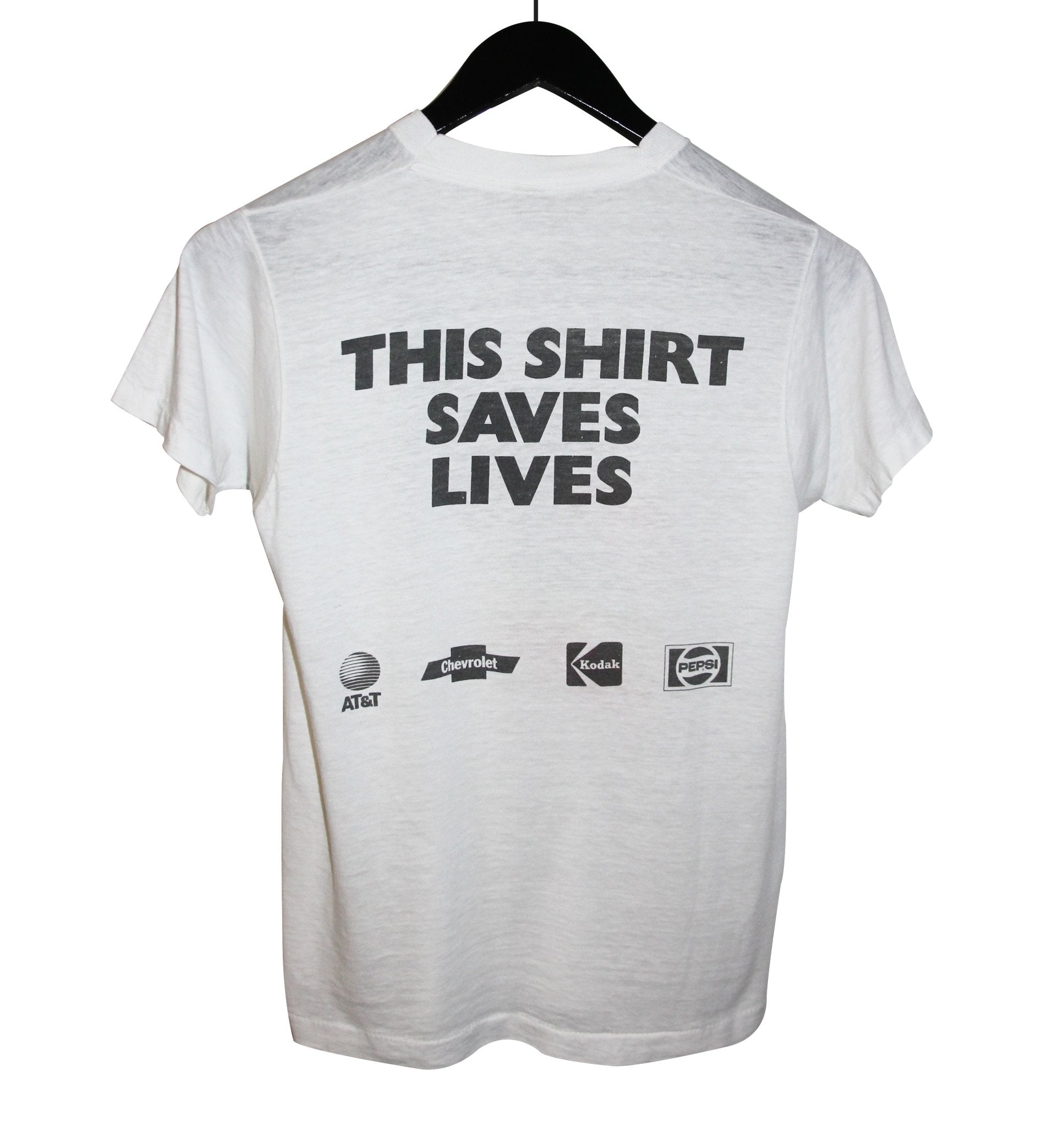 Live Aid 1985 This Shirt Saves Lives - Faded AU