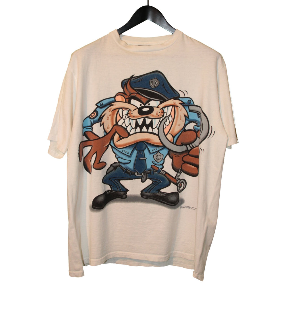 Looney Tunes 1994 Tasmanian Devil Police Shirt - Faded AU