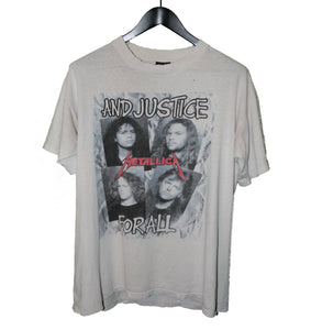 Metallica 1988 And Justice For All Shirt - Faded AU