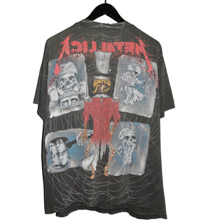 Metallica 1992 Ring Master Pushead All Over Print Shirt - Faded AU