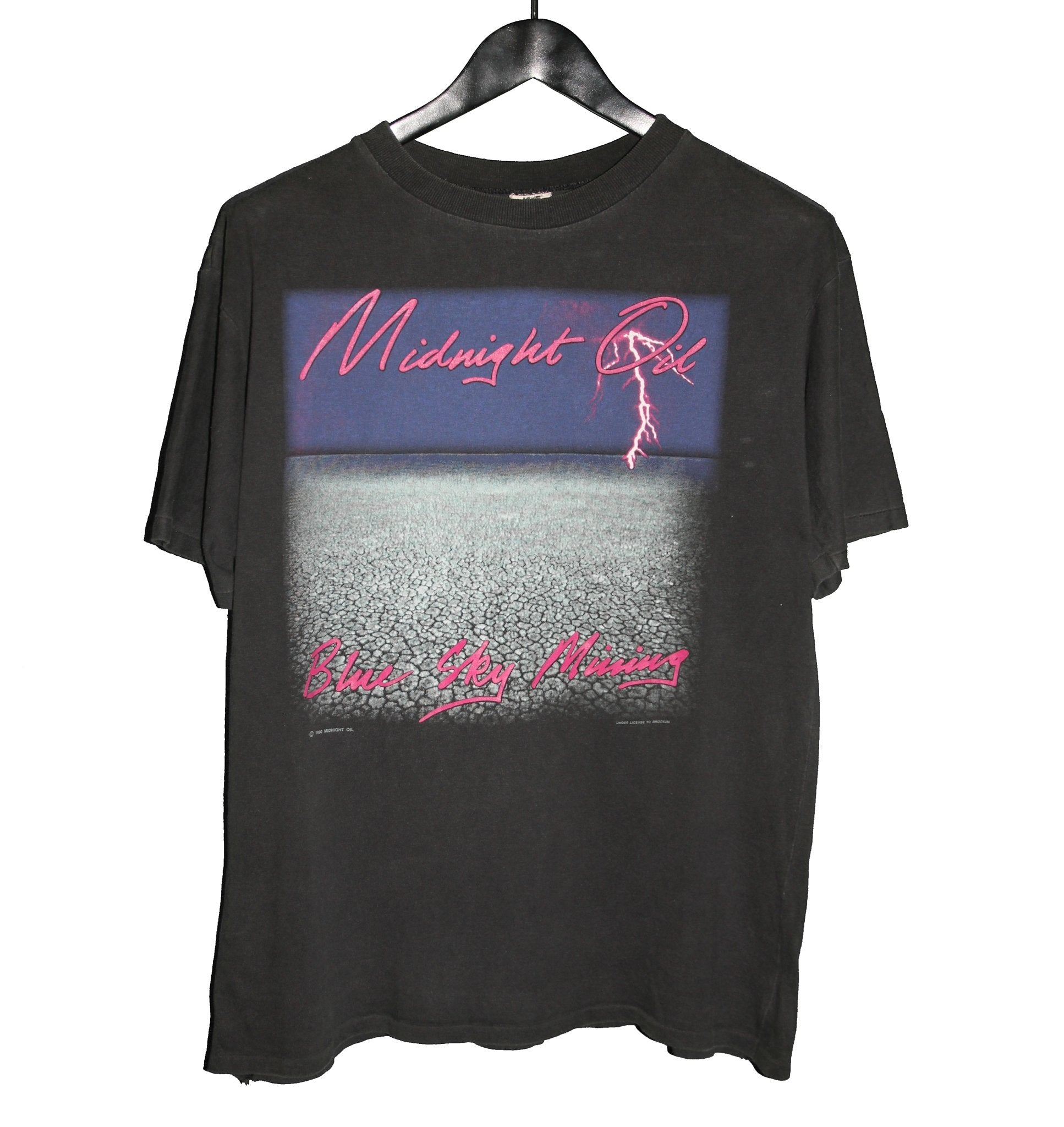 Midnight Oil 1990 Blue Sky Mining Tour Shirt - Faded AU