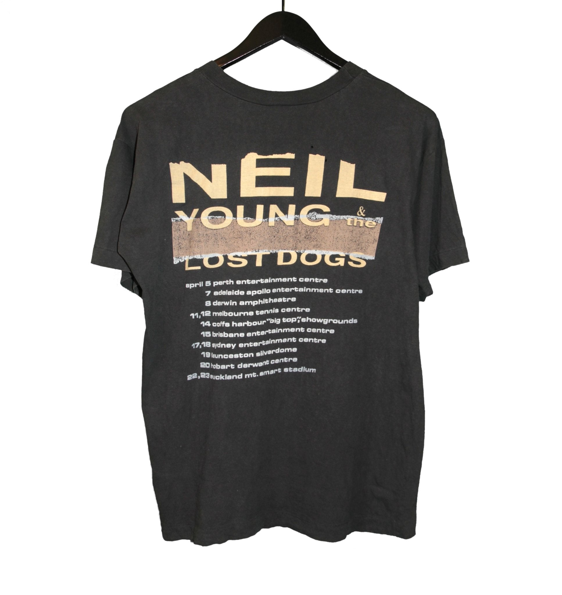 Neil Young & The Lost Dogs 1989 Tour Shirt - Faded AU