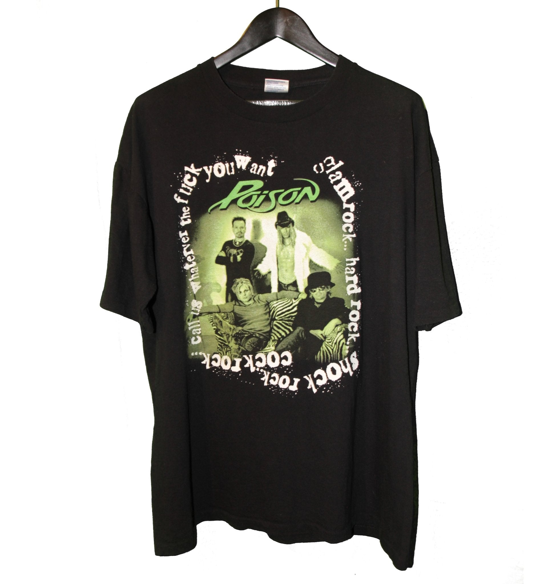 Poison 2001 Kick Ass Rock 'N' Roll Tour Shirt - Faded AU