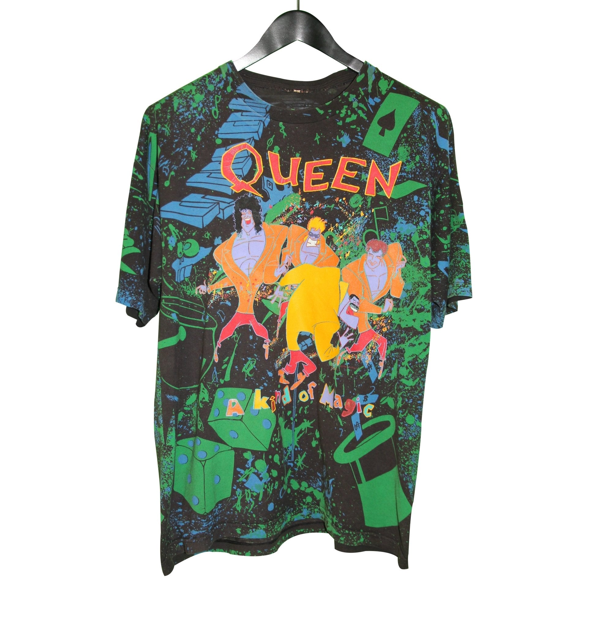 Queen 1986 A Kind Of Magic Shirt - Faded AU
