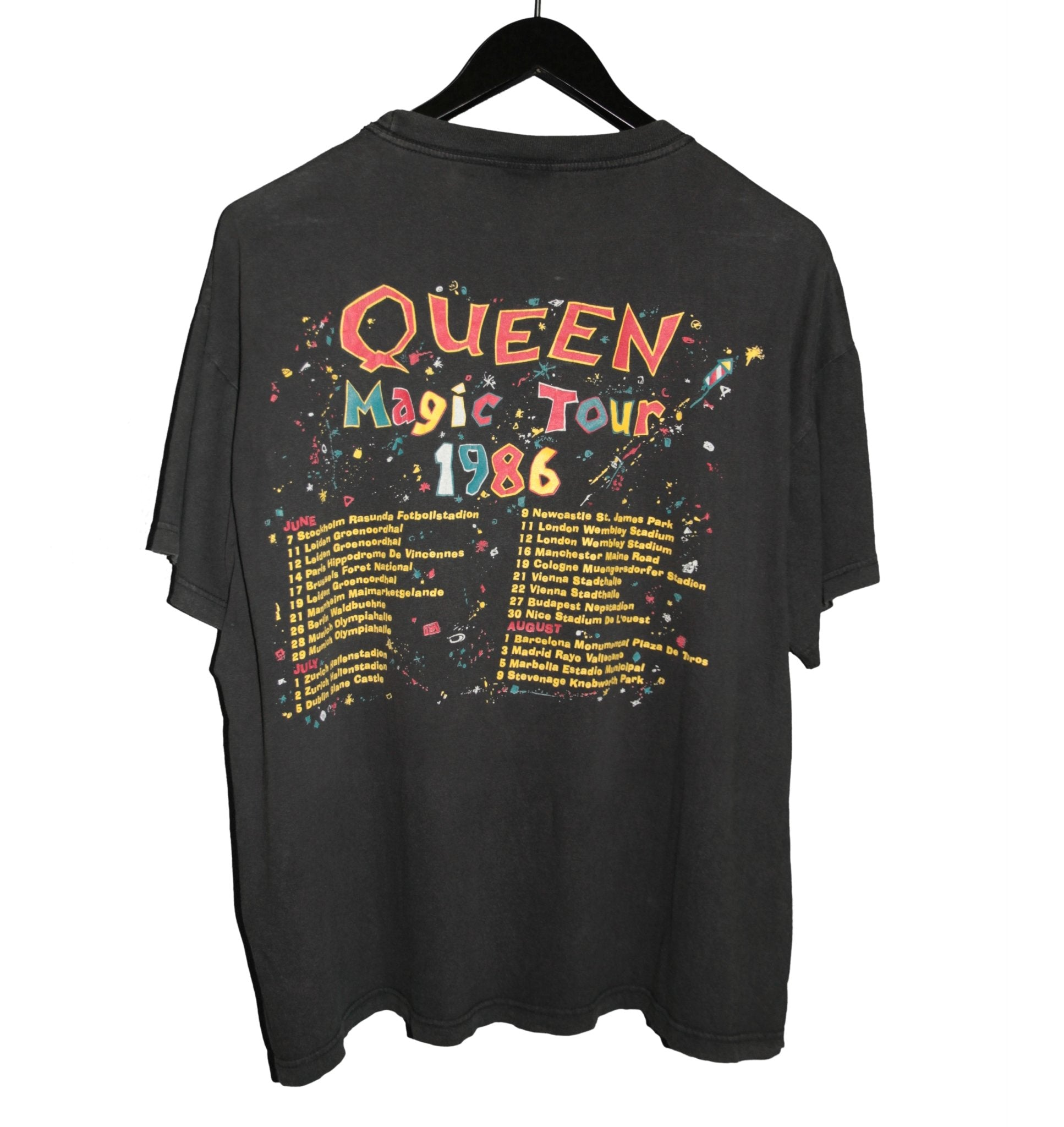 Queen 1986 A Kind Of Magic Tour Shirt - Faded AU
