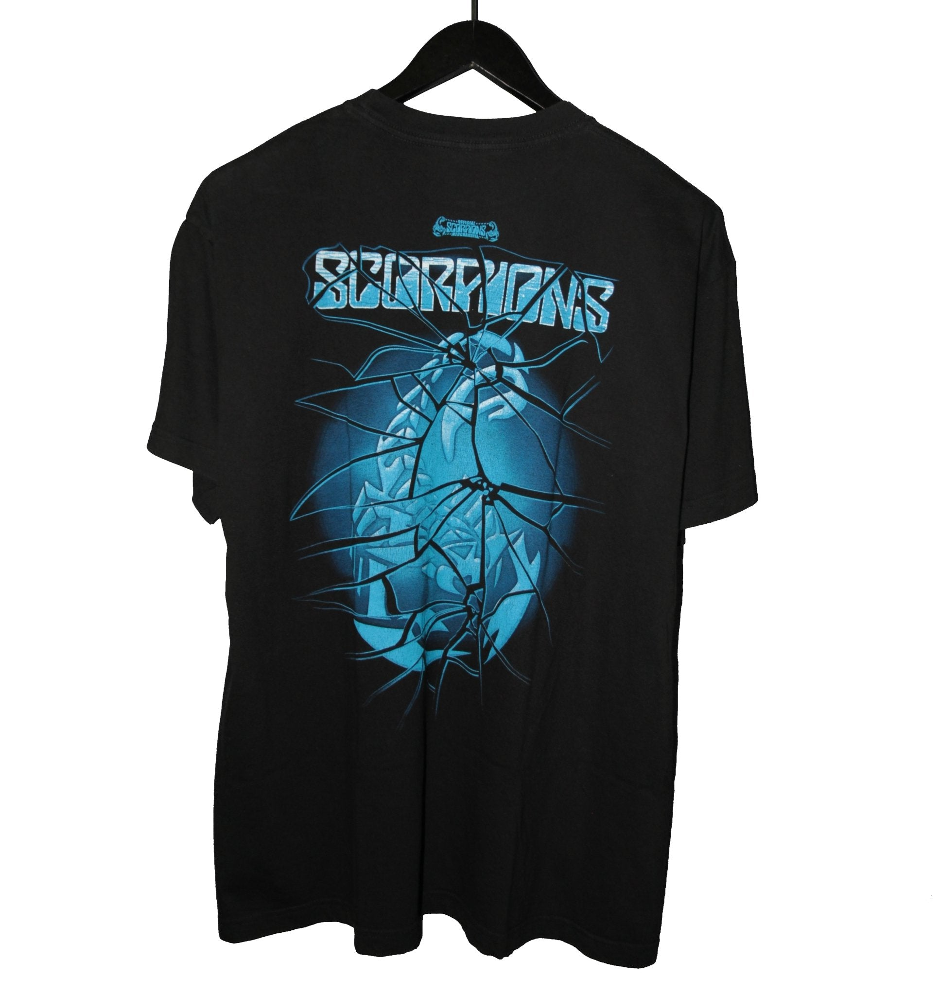 Scorpions 00's Blackout Album Shirt - Faded AU