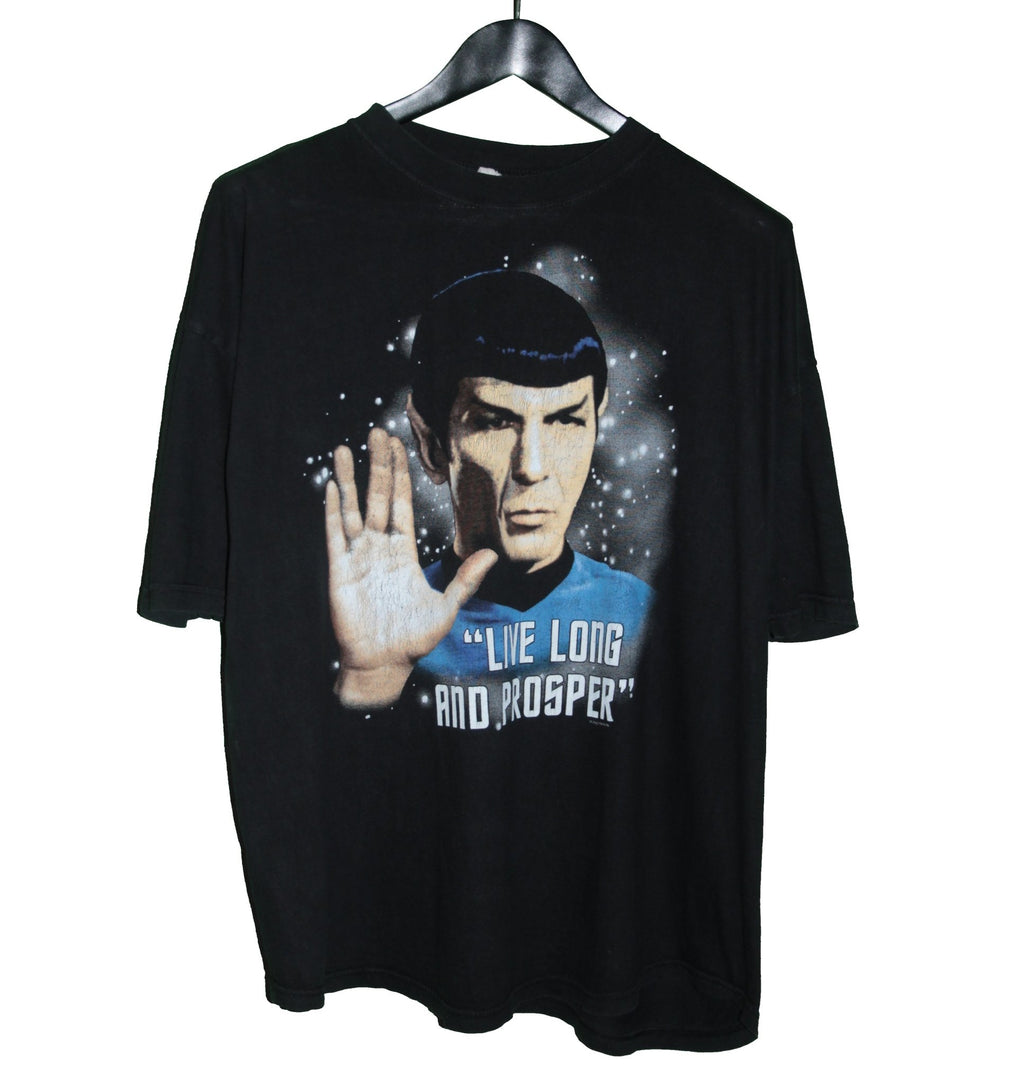 Star Trek 1996 Spock Live Long & Prosper TV Shirt - Faded AU