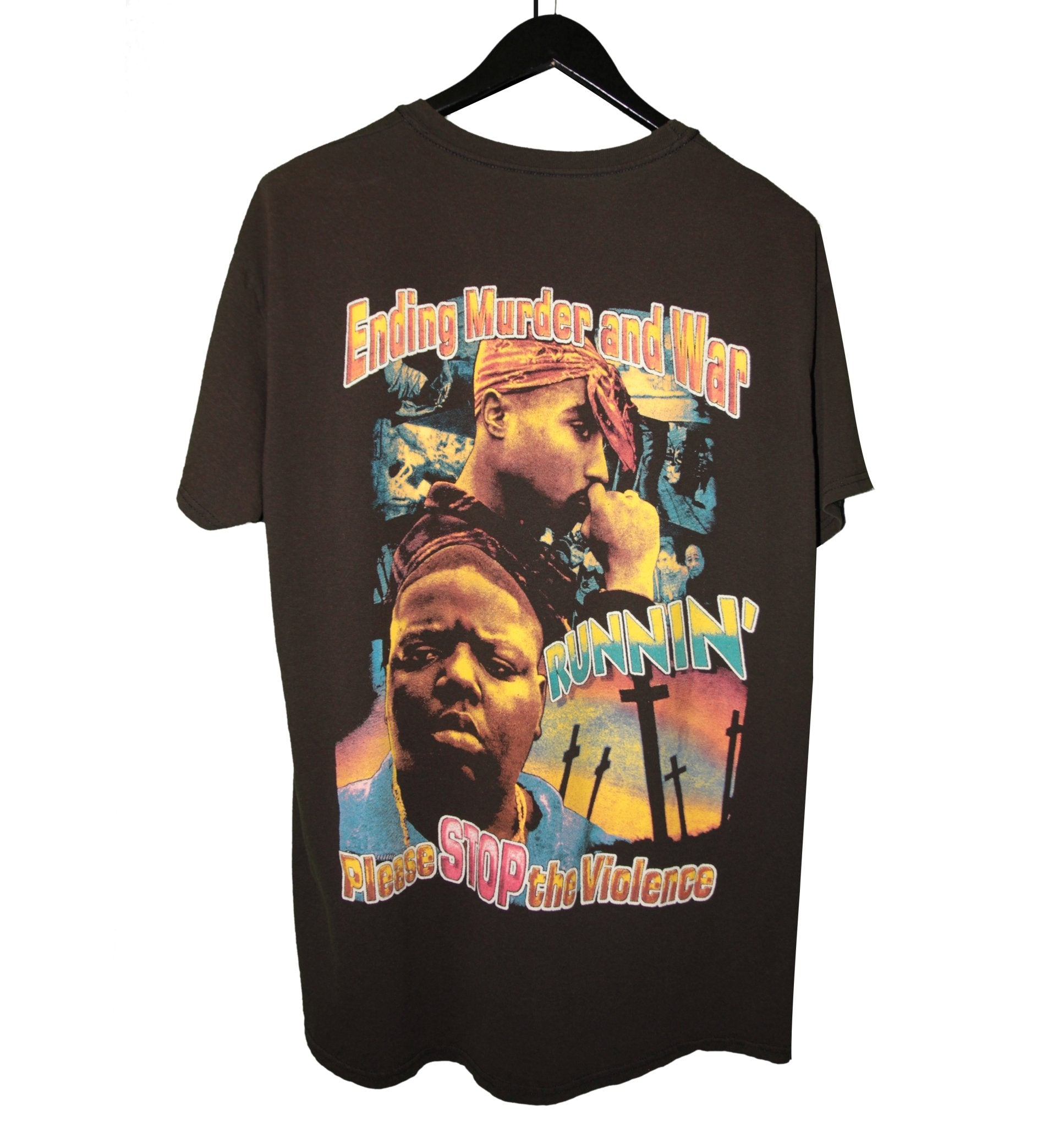 Tupac & Biggie 00s Stop the Violence Rap Shirt - Faded AU