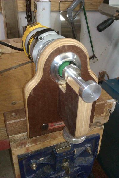 Custom low-profile binding jig for arch-top guitars. (special order only - contact for details)