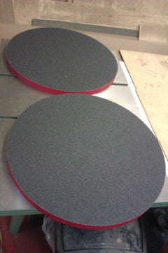 Pair of Radius dishes with sand paper