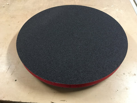 Double-sided radius dish with sand paper