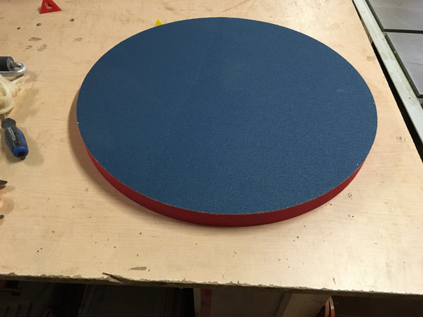 10' Radius Dish with sandpaper or 10' Rectangle Work-board