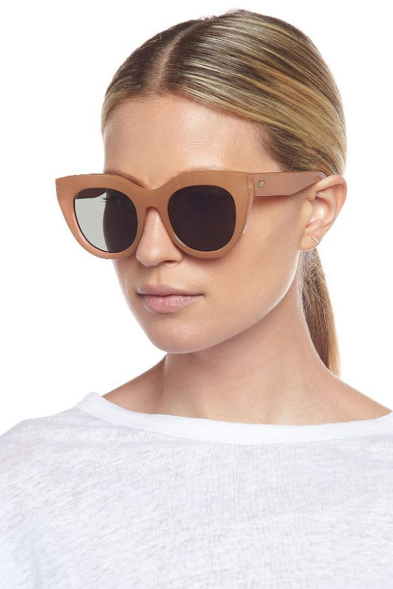 Le Specs Air Heart Sunglasses Caramel