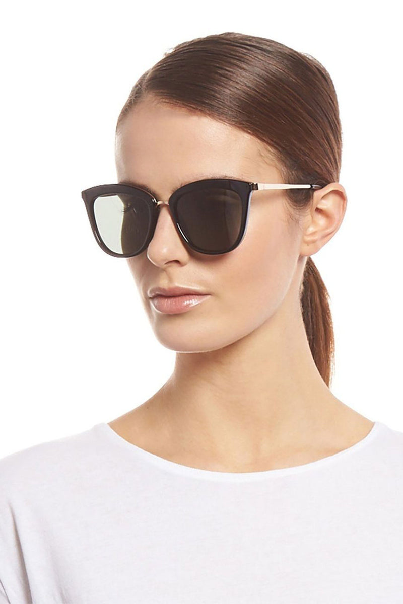 Le Specs Caliente Sunglasses Black / Gold