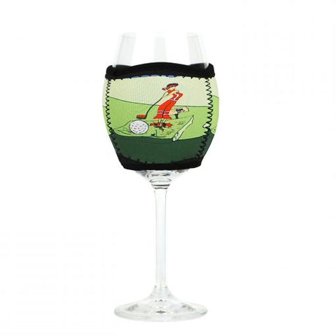 Wine Glass Cooler Golf Green