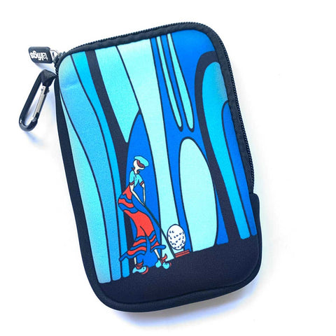 Phone Pouch With Clip Blue