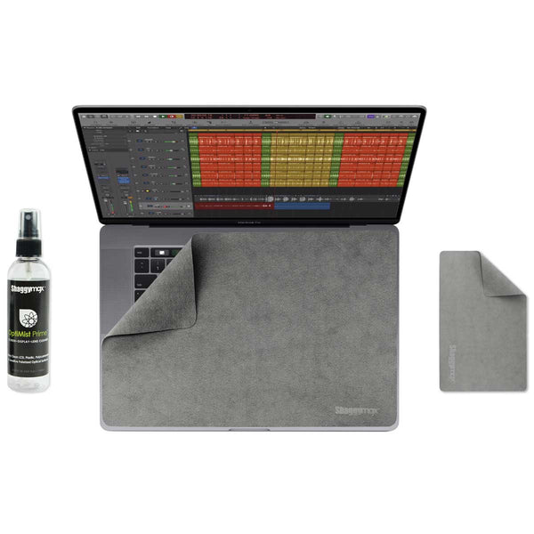 Laptop Swiper™ is a 3-in-1 Laptop Screen Protector, Keyboard Cover, Microfiber Cleaning Wipe all rolled into one.