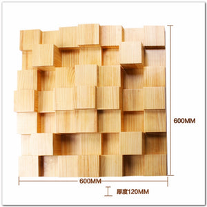 Timber Acoustic Sound Diffusion Panel 60x60cm