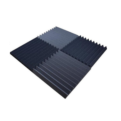 18piece  50*50*5cm gray and black wedge style acoustic foam panel set