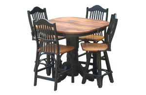 Cattleman Pub Table Set