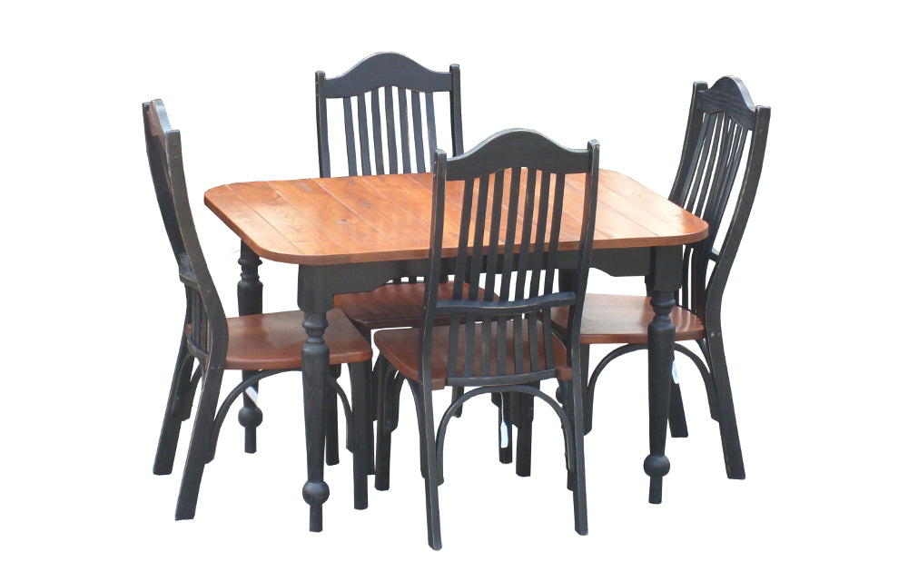 Cherry Square Round Table Set